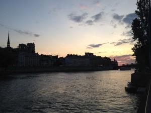 Paris Seine sunset-14-08-15