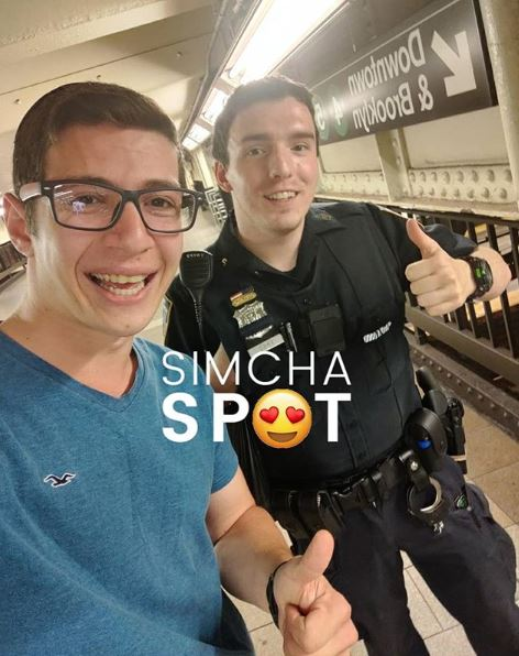 SimchaSpot Followers Take up Social Media Challenge, Thanking Police Officers for their Service 1
