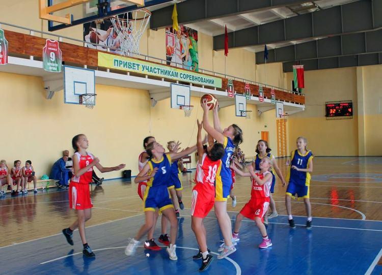 Занятия баскетболом