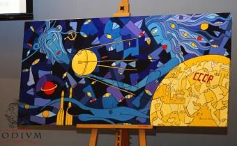 Церемония дарения картины Россано Феррари в ММК