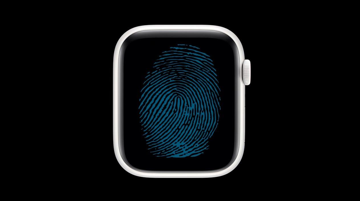 Apple Watch so skenerom odtlackov prstov