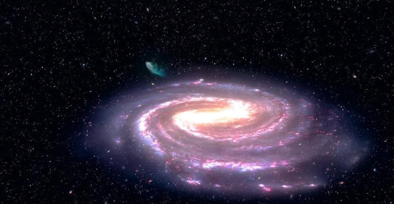 z ciernej diery bola vystrelena hviezda enormnou rychlostou