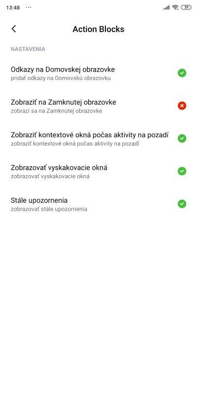 Action Block od Google_povolenia aplikacie