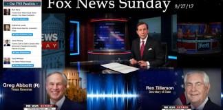 Fox News Sunday Full Show 8-27-2017