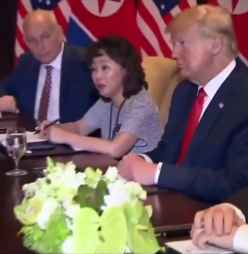 President Trump Participates in an Expanded Bilateral Meeting with North Korean Leader Kim Jong Un