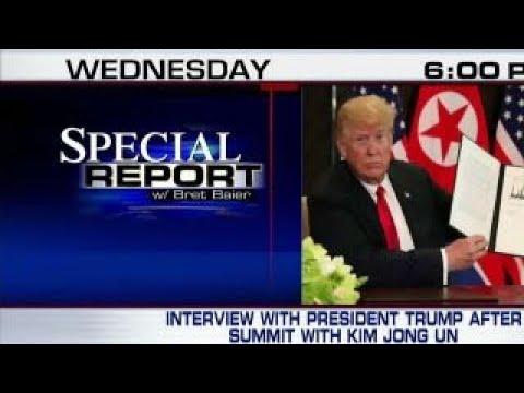 Bret Baier interviews President Trump after summit
