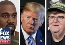 Celebrities clash over President Trump