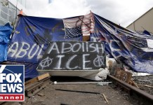 Tucker challenges Portland 'Occupy ICE' protester