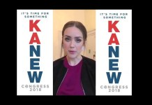 Megan Boone political ad in support of Justin Kanew