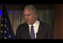Interior Secretary Ryan Zinke stepping down at end of year