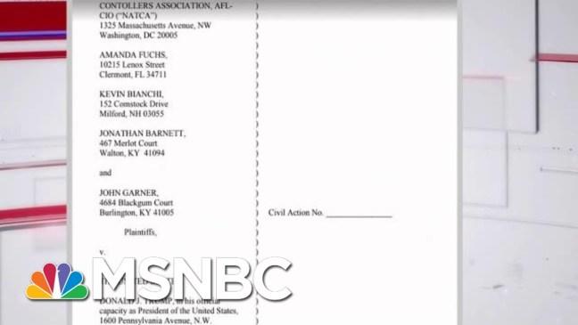 Air Traffic Controllers Union Sue Trump Over Government Shutdown   Andrea Mitchell   MSNBC