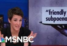 Congress Flouts Donald Trump's 'Red Line,' Subpoenas Financial Documents | Rachel Maddow | MSNBC