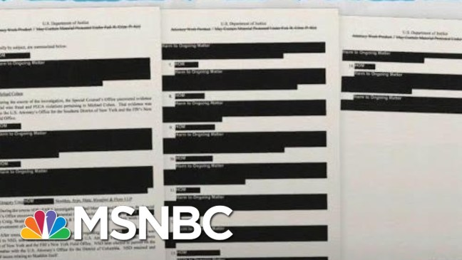 Robert Mueller Report Shows Many Cases Continuing, Hidden From Public   Rachel Maddow   MSNBC