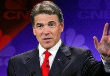 Rick Perry in a classic debate-gaffe moment.