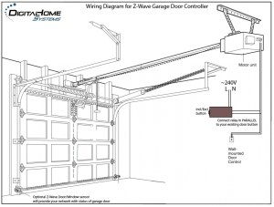 Wiring Diagram For Chamberlain Garage Door Opener  Wiring