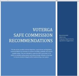 VoteGA Safe Commission Cover Page