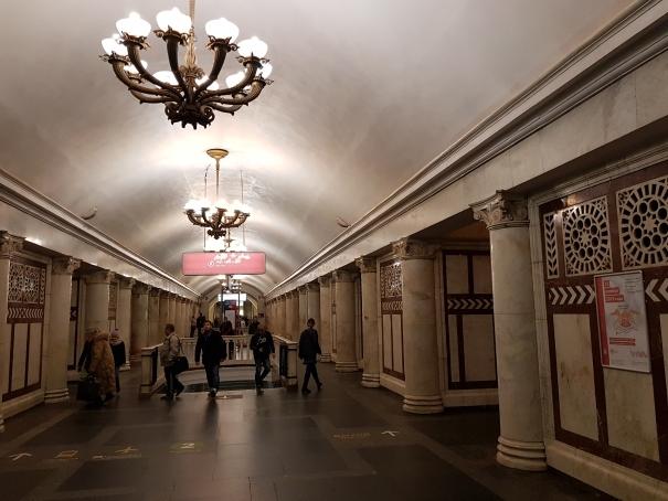 Couloir métro moscou