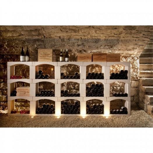 inovo vinho casiers a bouteilles en pierre reconstituee module de 288 bouteilles composition n 4