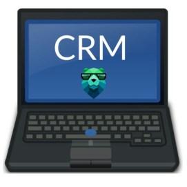 CRM sur un ordinateur portable