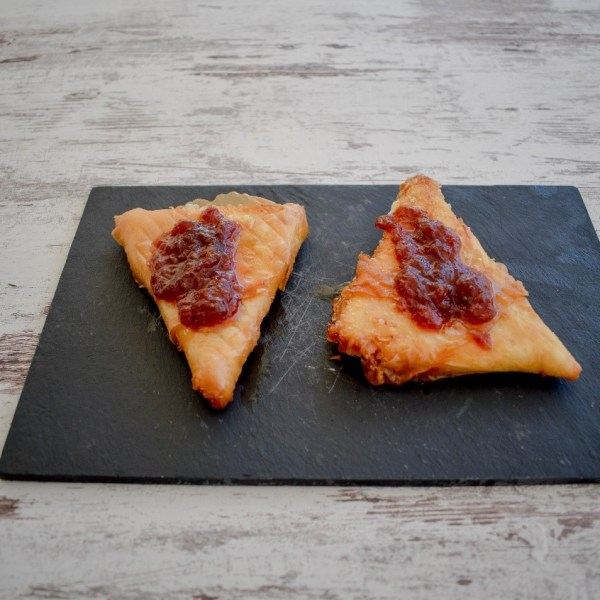 Graviera cheese with tomato jam
