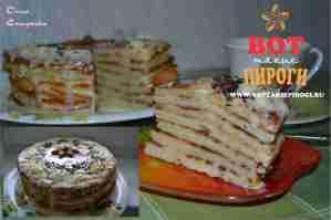 торт из оладьев