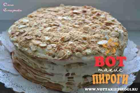 """Торт """"Наполеон"""". Пошаговый фоторецепт."""