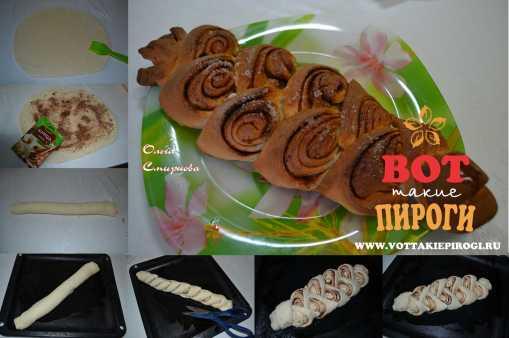 Пирог дрожжевой с корицей