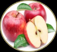 maçã limpa a pele