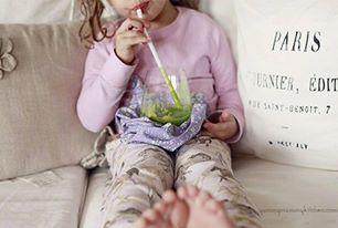 sucos verdes para crianças