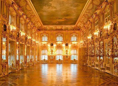 Interior do Palácio de Peterhof, São Petersburgo, Rússia