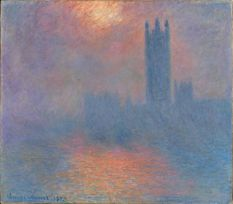 """""""London Parliament 1904"""" by Claude Monet. Someone had to shew away a mother and her children because the mother thought she should get her finger close enough to touch it so her 3 year old daughter could learn all about Impressionism. Some of these mothers are INSANE."""
