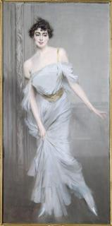 """""""Madame Charles Max"""" 1896 by Giovanni Boldini. Portraits are always my favorite part of any museum. These are three of the most gorgeous portraits I've ever seen."""
