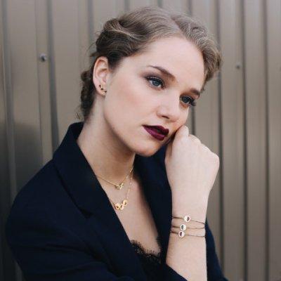 vous mademoiselle boucles oreilles puces rondes bijoux rétros graphiques collection daphne