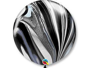 Шарик латексный АГАТ черный 76 см