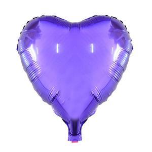 Фольгированное сердце металлик фиолетовый