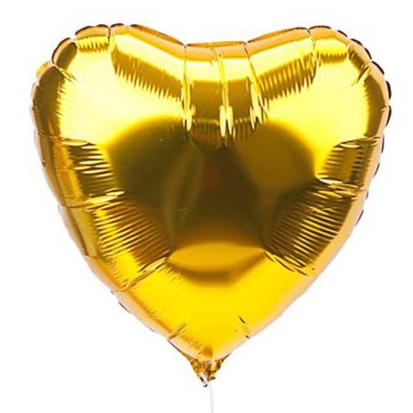 Фольгированный шар Сердце золото большое