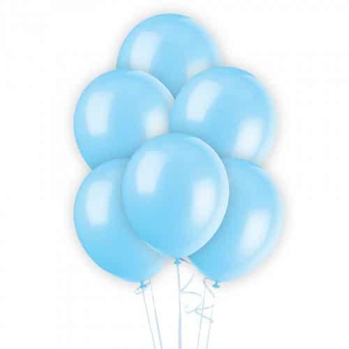 Воздушный шар Металлик Экстра Light Blue