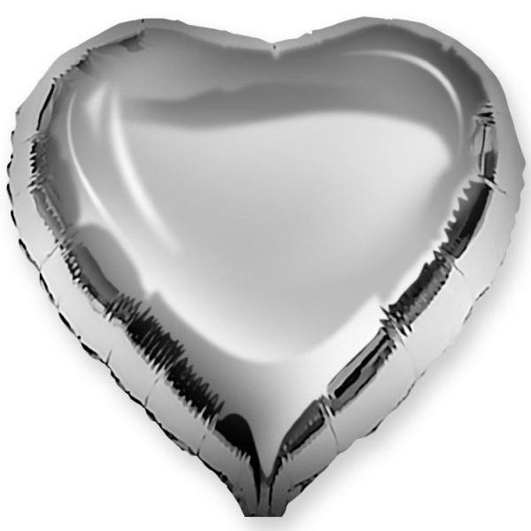 Сердце металлик СЕРЕБРО