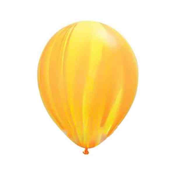Шарик латексный СУПЕР АГАТ желто-оранжевый