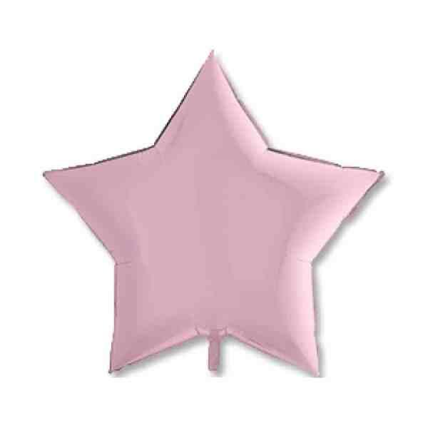 Шары фольгированные Звезды 32″ Пастель Pink