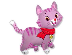 ФИГУРА Кошечка с шарфом розовая