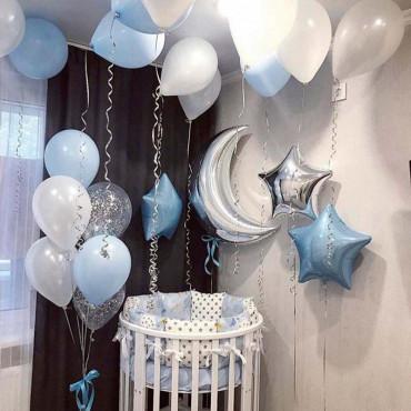 Комплект шаров на выписку Счастливый день
