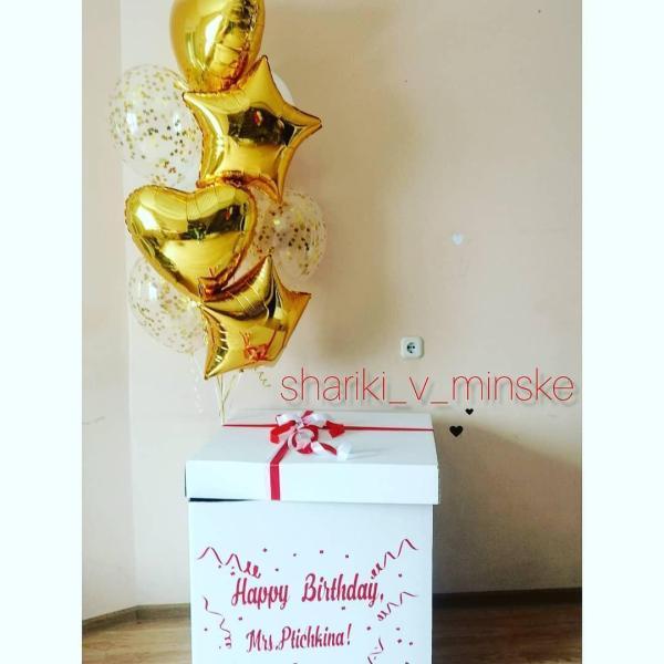 Коробка сюрприз с шарами Миссис