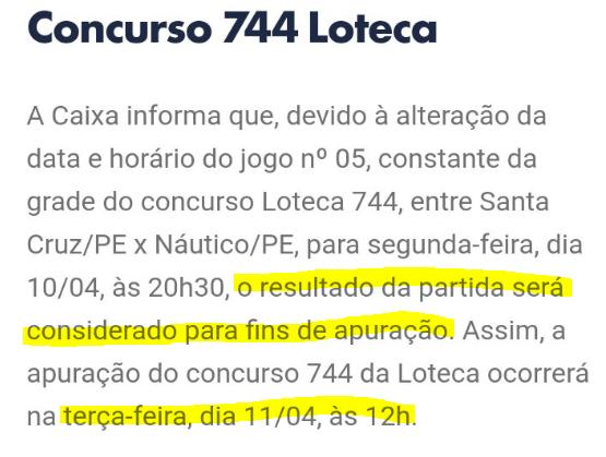 744 comunicado