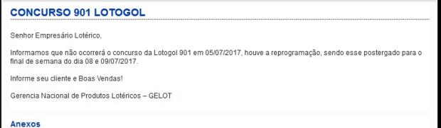 lotogol 901 aviso