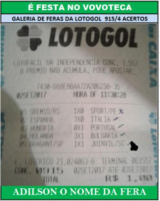 LOTOGOL 915 4 AC ADILSON