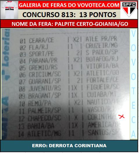 813 13P PALPITE CERTO
