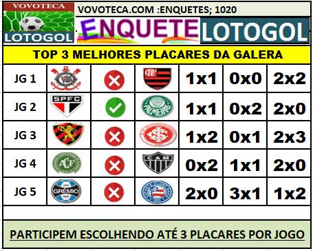 LOTOGOL 1020 TOP3 GALERA