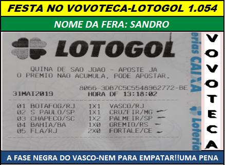 lotogol 1054 quadra sandro