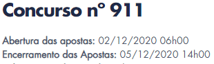 911 informações